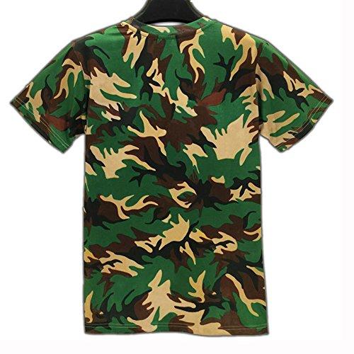 Yonbii Herren T-Shirt Mehrfarbig - Multicolore - Bigarré