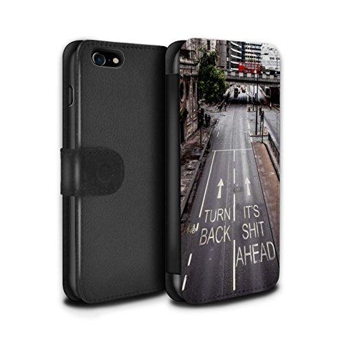 Stuff4 Coque/Etui/Housse Cuir PU Case/Cover pour Apple iPhone 8 / Pack 29pcs Design / Imaginer Collection Faire Demi-Tour