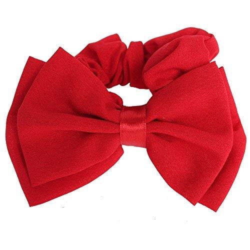 JUSTFOX - Schleife Haargummis in rot (Rote Kostüm Kontakte)