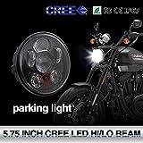 14,6cm Runde LED-Scheinwerfer Projektion Daymaker CREE Dot/E-Prüfzeichen zugelassen Hi/Lo Beam Standlicht Scheinwerfer Halo für Motorrad Harley Davidson colight