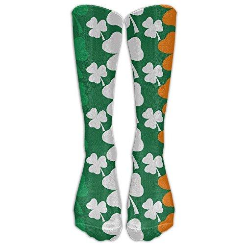 Saint Patricks Day Design Irish Flag Knee High Graduated Compression Socks For Women And Men - Best Medical, Nursing, Travel & Flight Socks - Running & Fitness 19.68 Inches -