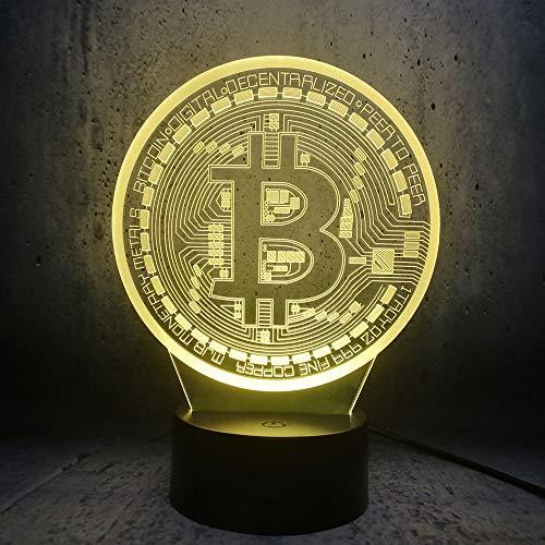 3d led lampe bitcoin nachtlicht beleuchtung schlafzimmer schlaf schreibtisch seite dekor geschenk net fans geburtstagsgeschenke lava display birne LHDOVIS