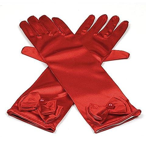 Prinzessin Elsa Handschuhe für Mädchen-Kostüm Karneval Verkleidung Party Handschuhe, Onesize,