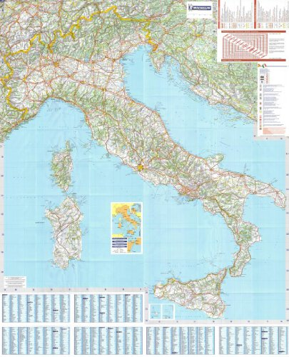 michelin-national-wall-map-of-italy-a-encapsulated-in-gloss-plastic