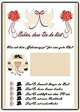 Lustiges Hochzeitsspiel 52 Postkarten Set Schön, dass Du da bist mit Fragen & Aufgaben für Gäste & Brautpaar Vintage Look creme Hochzeitsspiele Karten Hochzeit Gästebuch Wochen Gutschein Wunschkarten Set
