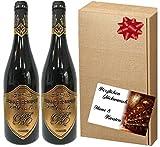 2er Rotwein-Set Belle Epoque á la Maison Laufèr   Luxus Geschenk für Bordeaux-Liebhaber  im Eichenholzfass gereift   für verwöhnte Weinkenner   Weihnachten   Geschenkset Italien Frankreich 2 Rotwein