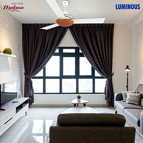 Luminous New York Hudson 1200mm Ceiling Fan (Pearl White)