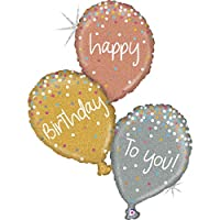 Betallic, Good Quality & Brilliantly Looking Birthday Balloons, Flawless foil balloons for Birthday functions and Decorations, (Pack of 3), Available in 3 Shades- Rose, Gold and Grey Color, 40 Inches.