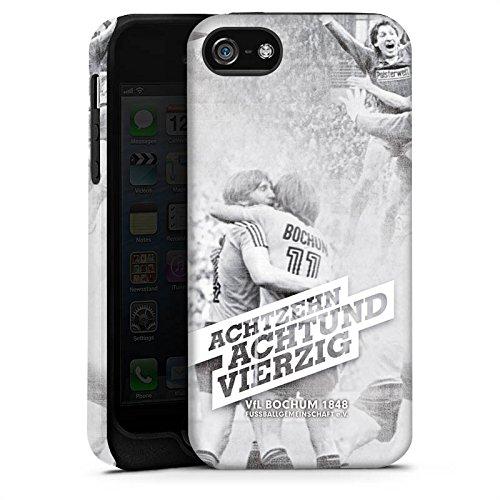 Apple iPhone X Silikon Hülle Case Schutzhülle VfL Bochum Fanartikel Bundesliga Tough Case matt