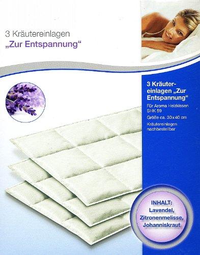 """Sanitas 3 Kräutereinlagen """"Zur Entspannung"""" für Aroma Heizkissen z.B. SHK 59"""