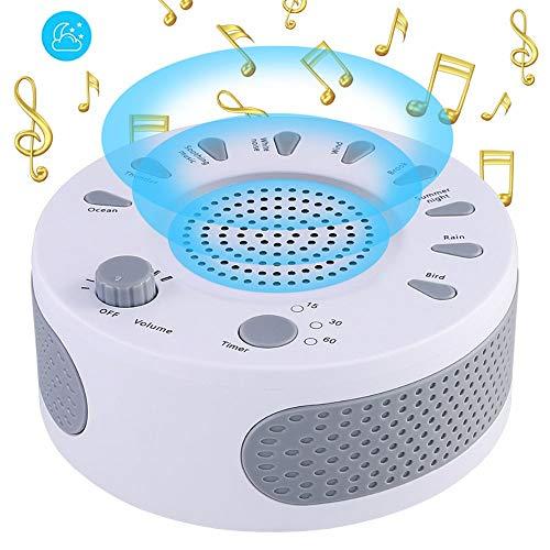 WMWHALE Schlaf-Sound-Maschine, 9 beruhigender Sound Auto-Off 3-Gang-Timer White Noise Machine USB-Kopfhöreranschluss für Baby Light Sleeper - Auto-sleeper