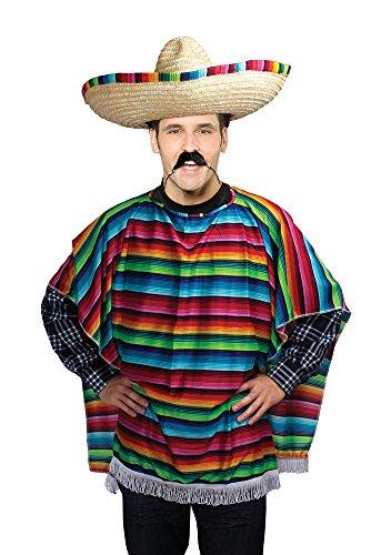 Bristol Novelty ac560disfraz de Poncho Mexicano adultos, talla única