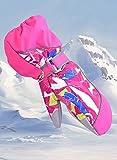Winthome Gants de ski enfants imperméable thermique chaud Gants rembourré 6–12ans Sports de plein air Gants de cyclisme/Gants de neige, rose