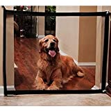 Wgwioo Pet Safety Enclosure Guard Portable Dog Cat Isolated Gasa Plegable Magic Gate Mantenga La Distancia para Sus Mascotas Desde La Cocina O Al Aire Libre