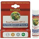 Badger Balm Broad Spectrum Sunscreen Lip Balm Stick - SPF 15 - .15 oz by Badger Balm