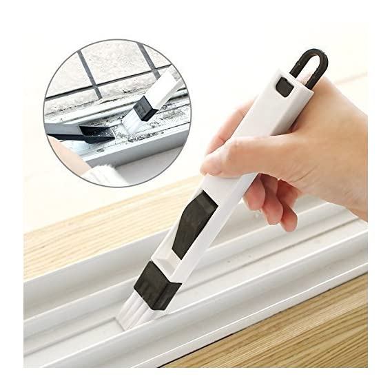 ON GATE 2-in-1 Dust Removal Multi-Function Window Slot Brush with Dustpan