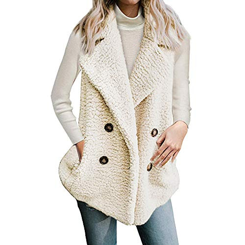 Quaan Damen Ärmellos Weste Outwear, Mode Winter Weich -