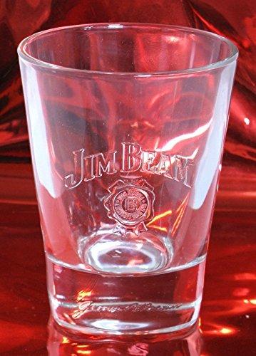 Jim Beam Bourbon Whiskey Glas ca. 0,2l Höhe ca. 11cm