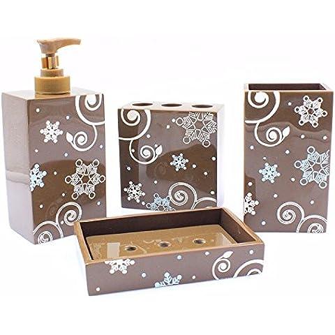 Set di lavaggio set da bagno ,marrone tuta (2 Piece Costume D'epoca)