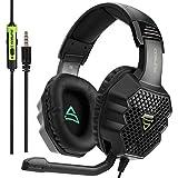 SUPSOO G811 Stereo Gaming Headset für PS4, PC, Xbox One Controller, Rauschunterdrückung über Ohr-Kopfhörer mit MIC, Bass Surr