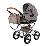 Knorr-Baby Kombi-Kinderwagen Classic Premium hellgrau