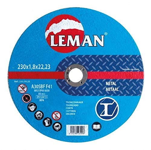 Leman 120.00 Pack de 25 discos de corte para metal (125 x 1 x 22, 23 mm) azul Set Piezas