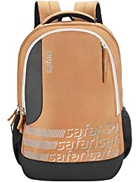 Safari Polyester 27 Ltrs Brown Laptop Backpack (Identity)