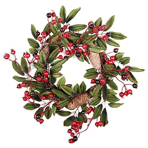 tskranz Türkranz Mit Kugeln Garland Decor Künstliche Kranz Weihnachtsschmuck Dekor Thanksgiving Dekorative Kranz Festlicher Weihnachtskranz Geschenk ()
