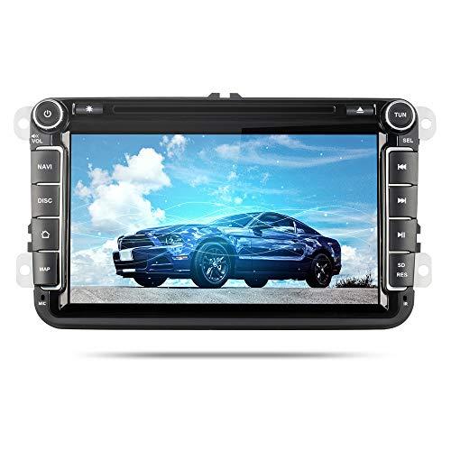 Yingly 8 Zoll Android 8.0 Doppel Din Autoradio für VW Golf Passat Skoda Seat mit DSP DVD-Player GPS Navi Radio Bluetooth Unterstützt Rückfahrkamera Lenkradsteuerung
