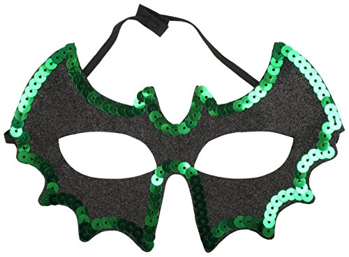 zest 5 strass paillette masque pour halloween chauve souris noir vert espace halloween. Black Bedroom Furniture Sets. Home Design Ideas