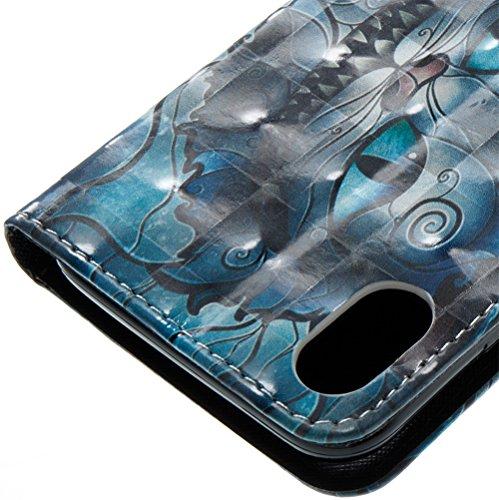 Coque Iphone X Edition, Iphone X Case, Iphone X Coque, Iphone X Protection, Coque Iphone 10 euros, Nnopbeclik® à Rabat Fonction Wallet/Portefeuille en Bonne Qualité PU Cuir Housse (5.8 Pouces) Peint 3 chat1