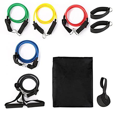 [Stretch Bands] Übungsband Kit Home Gym Fitness Equipment Widerstand Bands