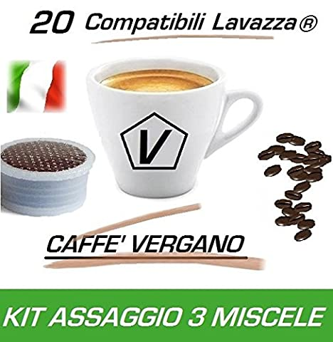 Kaffeekapseln kompatibel Lavazza Espresso Point® – Probierset à 20 Kaffeekapseln Caffè Vergano Espresso - Der echte italienische Kaffeegeschmack (3 Mischung)