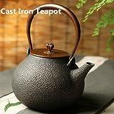 Hierro fundido tetera Tetsubin japonés tetera de té Pot Hervidor Tapa De Cobre Para La Preparación De Té 1.3L