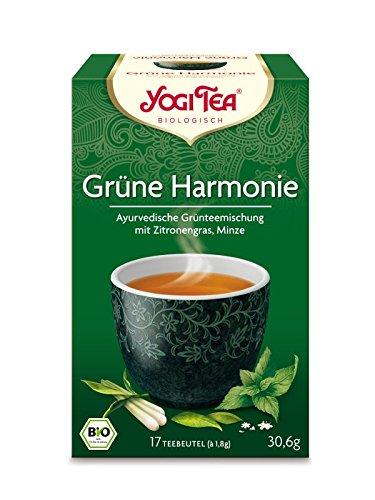 Yogi Tea – Bio Grüne Harmonie Tee, 1er Pack (17 x 1,8 g Teebeutel) – BIO