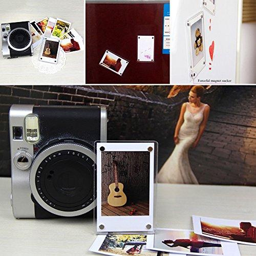Cadre Photo Magnétique Frigo Aimant Aimants en Acrylique Transparent Emplacement Photos comme Cadeau pour Mariage Familles Loisirs Créatifs 2PCS par sweetlife