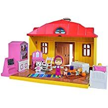 Simba 109301633 - Masha Playset Casa Richiudibile, con Personaggio