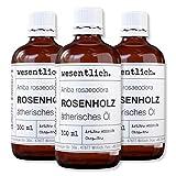 wesentlich. Rosenholzöl - ätherisches Öl - 100% naturrein (Glasflasche) - u.a. für Duftlampe und Diffuser (3x100ml)