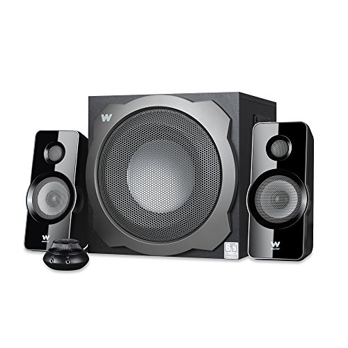 Foto de Woxter Big Bass 260 S - Altavoces multimedia (2.1, potencia 150W, 90- 20000 Hz), color plateado