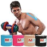 Bande de kinésiologie pour le sport 5,1cm x 5 m-Pro, excellent soutien musculaire, résistante à l'eau, thérapeutique-Parfaite pour le sport, la rééducation et la physiothérapie, MK6