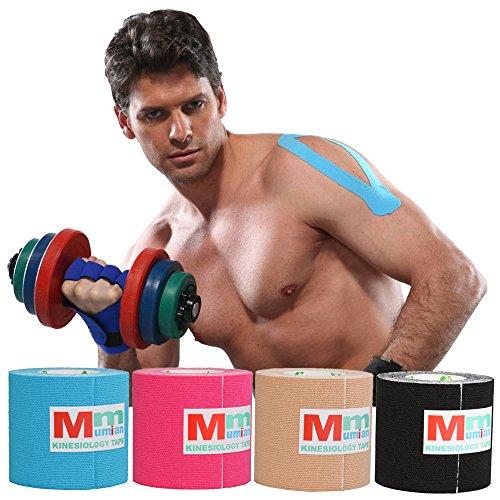 Kinesio-Tape für den Sportbereich, 5,1cm x 5m, Profiqualität– beste therapeutische Unterstützung der Muskeln, wasserdicht, therapeutisches Sport-Tape, perfekte Unterstützung für den Sport, Erholung und Physiotherapie, MK6