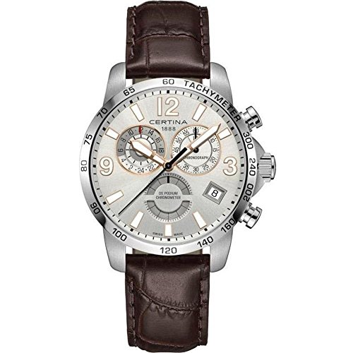Certina Men's DS Podium GMT 42mm Leather Band Quartz Watch C034.654.16.037.01