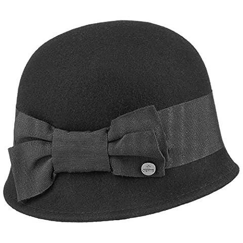 Chapeau Cloche Crushable Lierys chapeau de feutre chapeau pour femme (taille unique - noir)