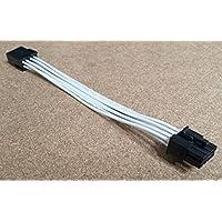 shakmods blanco 8pin ATX CPU placa base fuente de alimentación cable de extensión 16AWG 30cm