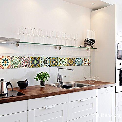 Vancore, adesivi per piastrelle in stile mediterraneo per cucina e ...