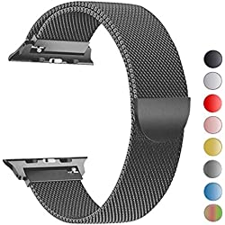 VIKATech Bracelet de Remplacement Compatible avec Apple Watch Bracelet 44 mm 42 mm Boucle en Acier Inoxydable Bracelet de Remplacement pour iWatch Série 4/3/2/1 Spacegray