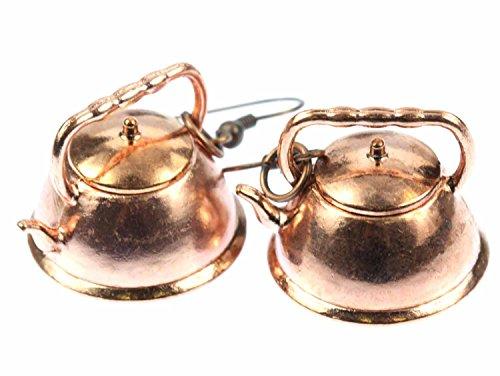 Wasserkessel Ohrringe Kupferkessel Teekanne Kupfer Miniblings Teekessel Tee