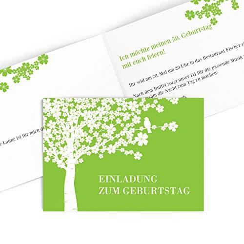 Hochwertige Einladungskarten zum Geburtstag (1-99 Jahre) | Designs auswählbar | Geburtstagseinladung mit Druck Ihrer eigenen Texte |