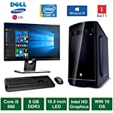 "Desktop PC - Intel Core I5 660 Processor / 18.5"" LED Monitor / Windows 10 Pro / 1TB HDD / DVD / WiFi / Keyboard / Mouse"