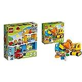 LEGO Duplo 10835 - Familienhaus, Spielzeug für drei Jährige &  Duplo 10812 - Bagger und Lastwagen, Ideales Geschenk für 2 Jährige